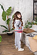 Детский спортивный костюм для девочки Colabear Турция 683000 Серый весенний осенний демисезонный, фото 5