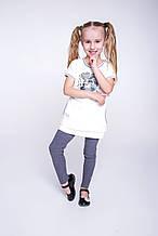 Детские лосины для девочки Viaelisia Италия 7026 Серый