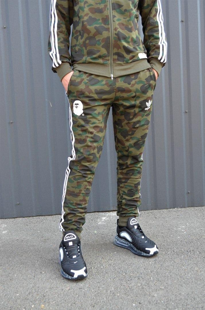 Спортивные штаны Bape x adidas