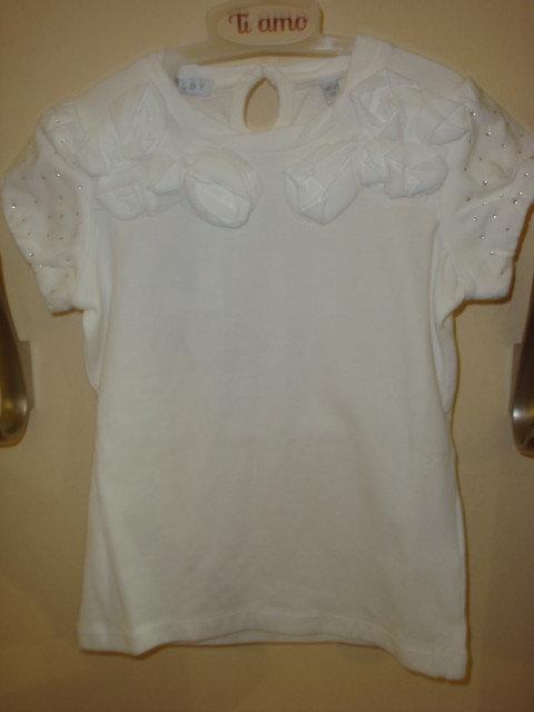 Детская футболка для девочки Одежда для девочек 0-2 Melby Италия 72531426 Белый