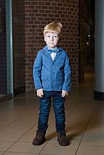 Детский нарядный пиджак для мальчика BOBOLI Испания 731382 Голубой 140