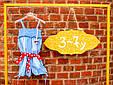 Дитячий джинсовий комбінезон для дівчинки Krytik Італія 79478 / KB / 00A Синій, фото 2