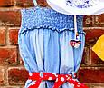Дитячий джинсовий комбінезон для дівчинки Krytik Італія 79478 / KB / 00A Синій, фото 3