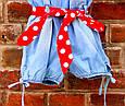 Детский джинсовый комбинезон для девочки Krytik Италия 79478 / KB / 00A Синий, фото 4