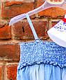 Дитячий джинсовий комбінезон для дівчинки Krytik Італія 79478 / KB / 00A Синій, фото 5