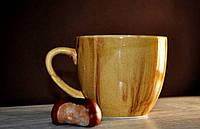 Керамическая чашка, светло-коричневая