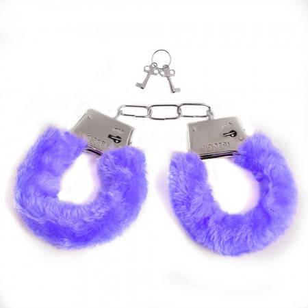 Наручники меховые (фиолетовые), фото 2