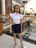 Школьная блузка для девочки Школьная форма для девочек PINETTI. Италия 819093 Белый