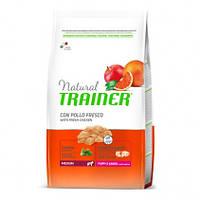 Сухой корм для щенков Trainer Natural (Трейнер Нейчирал) Puppy&Junior Medium. Упаковка 12 кг.