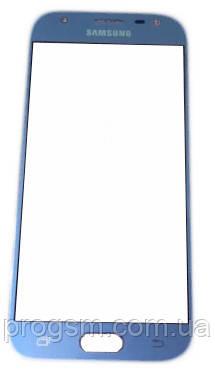 Стекло дисплея Samsung J3 (2017) / J330 Blue (для переклейки)