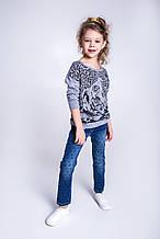 Детский пуловер для девочки Krytik Италия 94545 / K4 / 00A серый 122