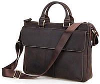 Кожаная мужская сумка европейского качества Vintage 14161 Коричневая, Коричневый