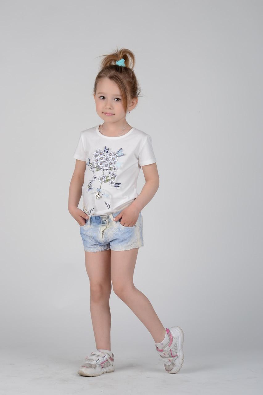 Детская футболка для девочки Artigli Италия A04547 Белый