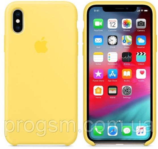 Чехол (Silicone Case) для iPhone X / iPhone XS Original Canary Yellow