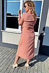 Платье миди в горох с поясом на завязках и карманами (9150), фото 10