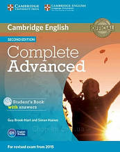 Учебник Complete Advanced C1 Second Edition Student's Book with answers and CD-ROM