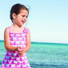 Детская пляжная туника для девочки Archimede Бельгия A407081 Розовый 116, С животным рисунком