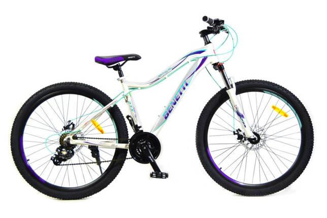 """Горный алюминиевый велосипед Benetti Giro 27,5 DD 2020 Al 15"""", бело-фиолетовый, фото 2"""