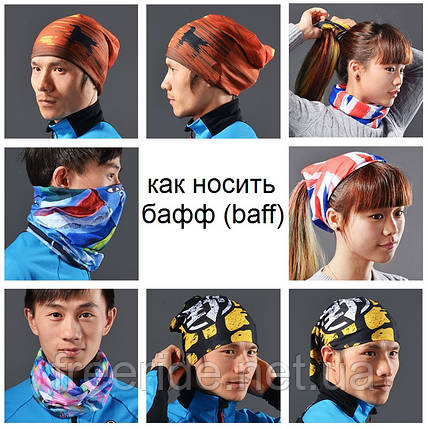 Бафф, buff Rockbros, бесшовный шарф, повязка (# 3611), фото 2