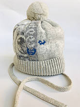 Детская шапка для мальчика JAMIKS Польша GUSTAW бежевая