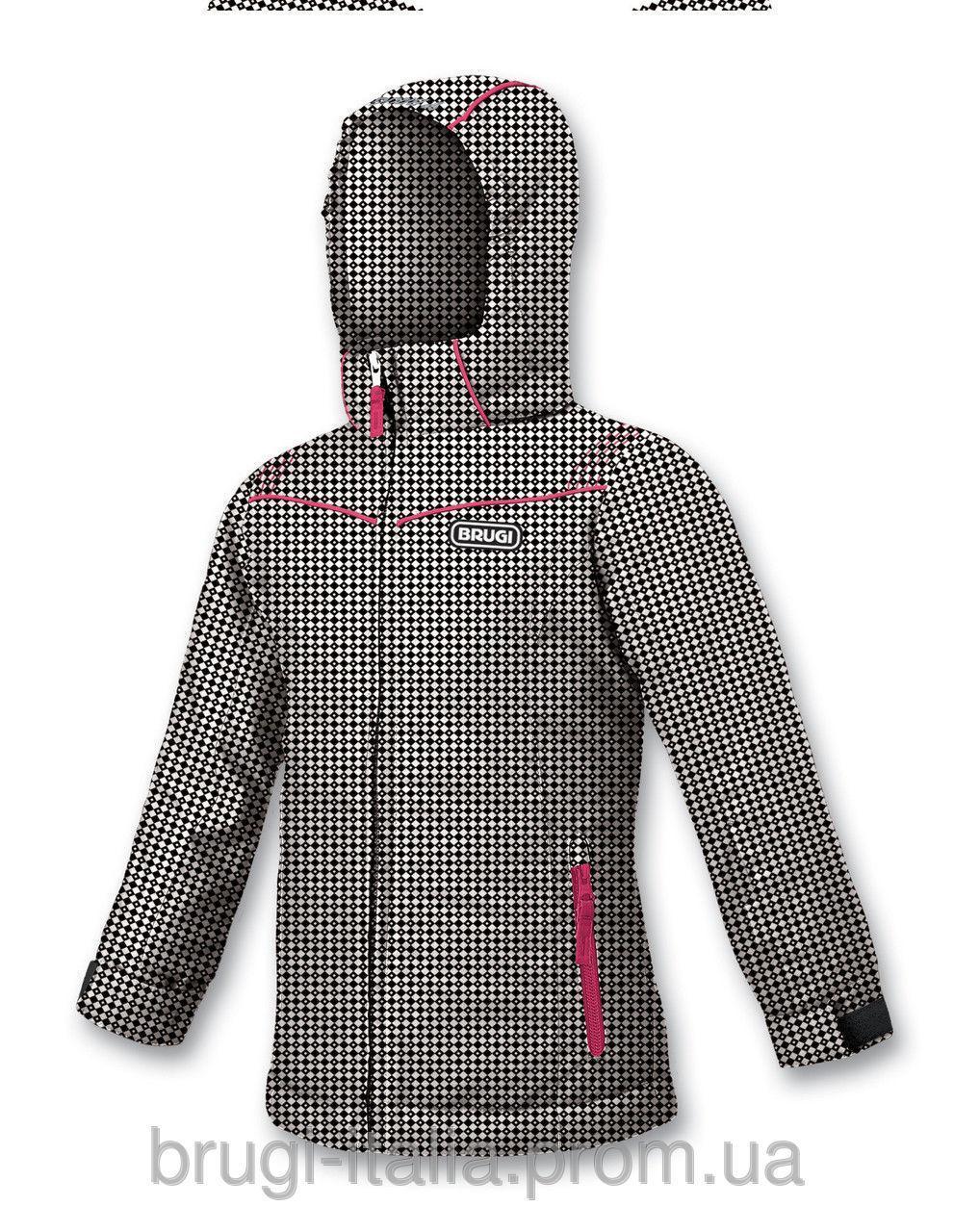 Детская куртка для девочки Верхняя одежда для девочек BRUGI Италия J214 черно-белая