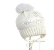 Дитяча шапка для дівчинки JAMIKS Польща JAGENKA 1 молочна