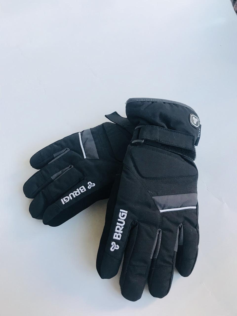 Детские перчатки для мальчика BRUGI Италия JI45 черные 158-164