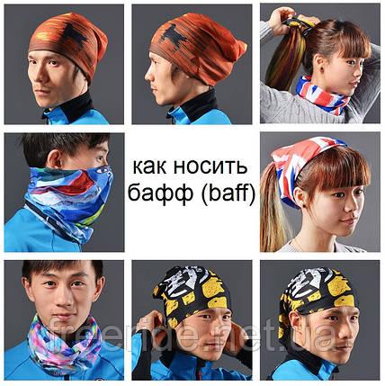 Летний бафф, buff Rockbros, бесшовный шарф, повязка (# 5017), фото 2