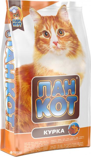 Сухой корм для кошек Пан Кот Курица 10 кг