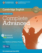 Complete Advanced Second Edition Workbook with answers and Audio CD / Тетрадь с ответами