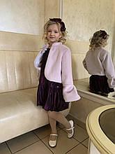 Нарядное болеро для девочки Daga Польша M6756 Сиреневый 128