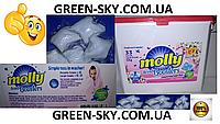 КАПСУЛЫ ДЛЯ СТИРКИ Порошок для стирки Molly Boosters+Пятновыводитель в капсулах (США) -33 шт Класные