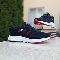 Мужские кроссовки в стиле  Adidas NEO чёрные с красным, фото 1