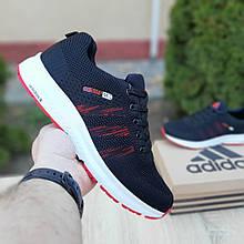 Чоловічі кросівки Adidas NEO (чорно-червоні) 10075