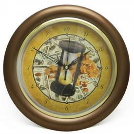 Часы идут в обратную сторону Время-деньги (коричневый)