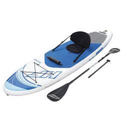 SUP-борд Bestway 65303, надувная доска для плавания с веслом, доска, весло, сиденье