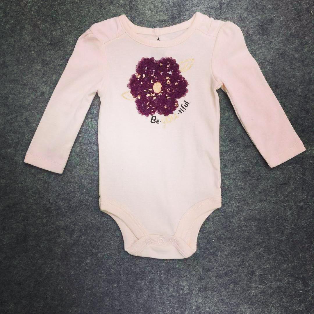 Боді дитячий для дівчинки з квіточкою 6  12 місяців