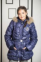 Детская куртка для девочки Верхняя одежда для девочек Pezzo D'oro Италия S04G1015 Синий
