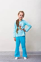 Детская пижама для девочки CORNETTE Польша SCOOBY-DOO голубая