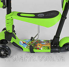 Детский трехколесный самокат-беговел Best Scooter 5в1 колеса PU со светом 95540, фото 2
