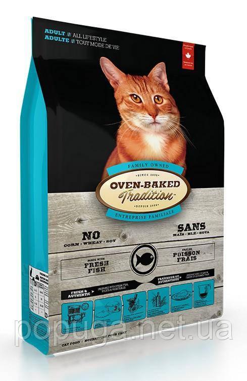 Oven-Baked Tradition Adult Cat Fish сухой корм для взрослых кошек со свежим мясом рыбы, 2,27 кг