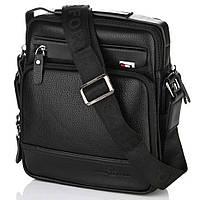 Мужская сумка на плечо Bradford 8923-3 на три отдела из искусственной кожи 24х28х8см