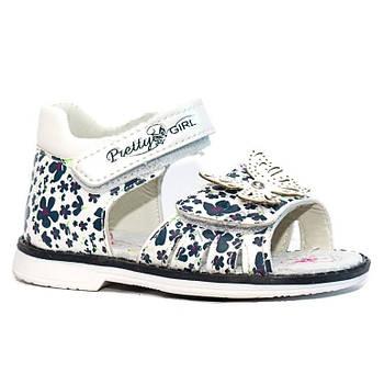 Сандали для девочки. Босоножки для девочки Сандалии детские ортопедические Обувь детская, 23 размер (белые)