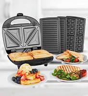 Гриль, сендвичница, вафельница, Crownberg Ms-1071 3в1