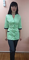 Женский медицинский костюм Оксана коттон 42-44 размер три четверти рукав, фото 1