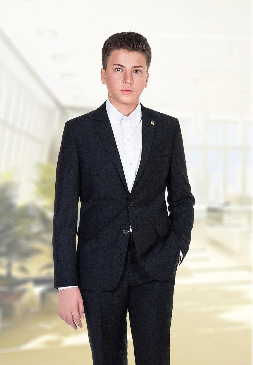 Детский костюм для мальчика Школьная форма для мальчиков Новая форма Украина TOMAS 170(44), Черный, 2183