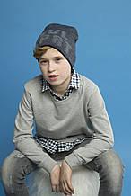 Детская шапка для мальчика BARBARAS Польша WV12 / 00 Синий меланж