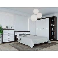 Спальня Соната комплект 10 Эверест Венге темный + Белый