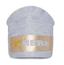 Детская шапка для девочки BARBARAS Польша WV40 / 0B Серый весенняя осенняя демисезонная