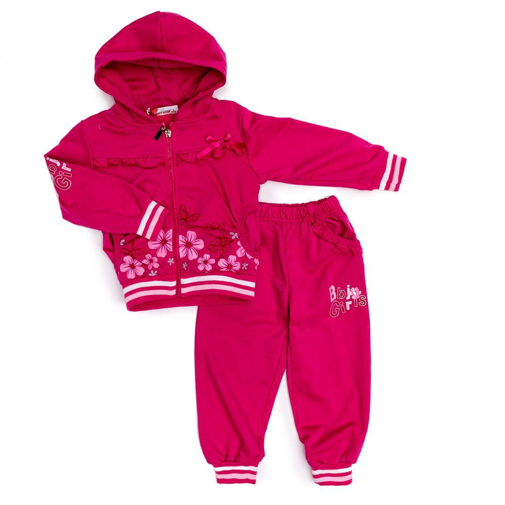 Костюм спортивний для дівчаток Happy House 98 рожевий B-0593